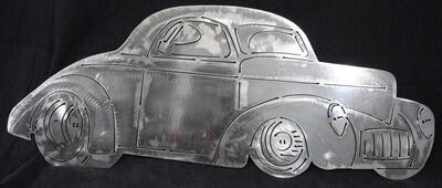 1941 Willy's Hot Rod 12″, Metal Wall Art Decor