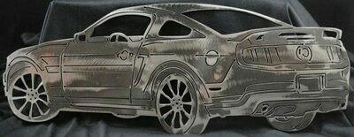 2011 Ford Mustang, Metal Wall Art Decor