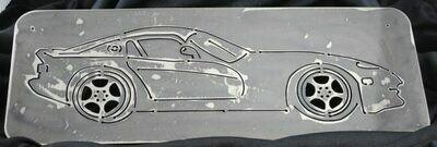 2000 Dodge Viper cut in 18″, Metal Wall Art Decor