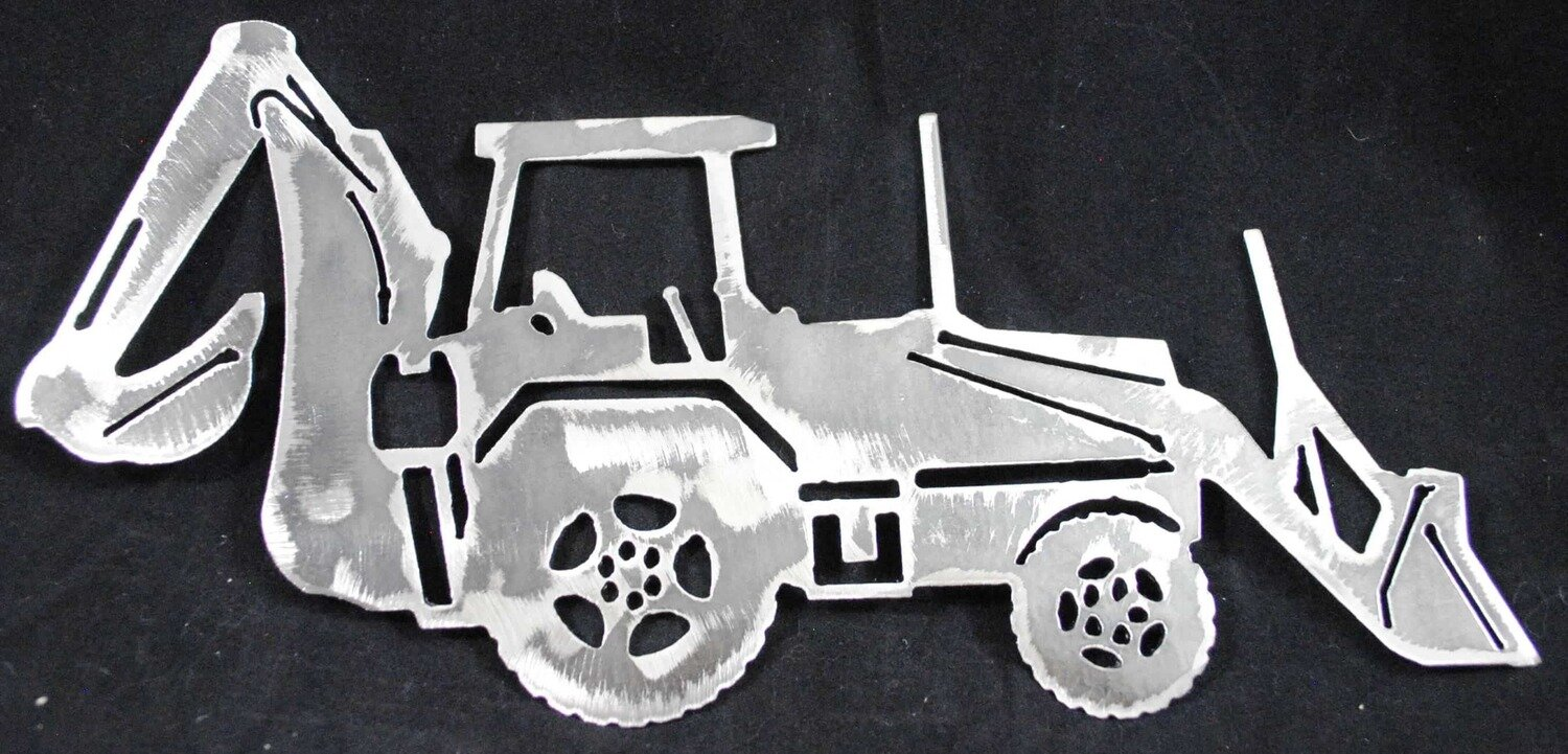 Back Hoe Metal Wall Art Decor