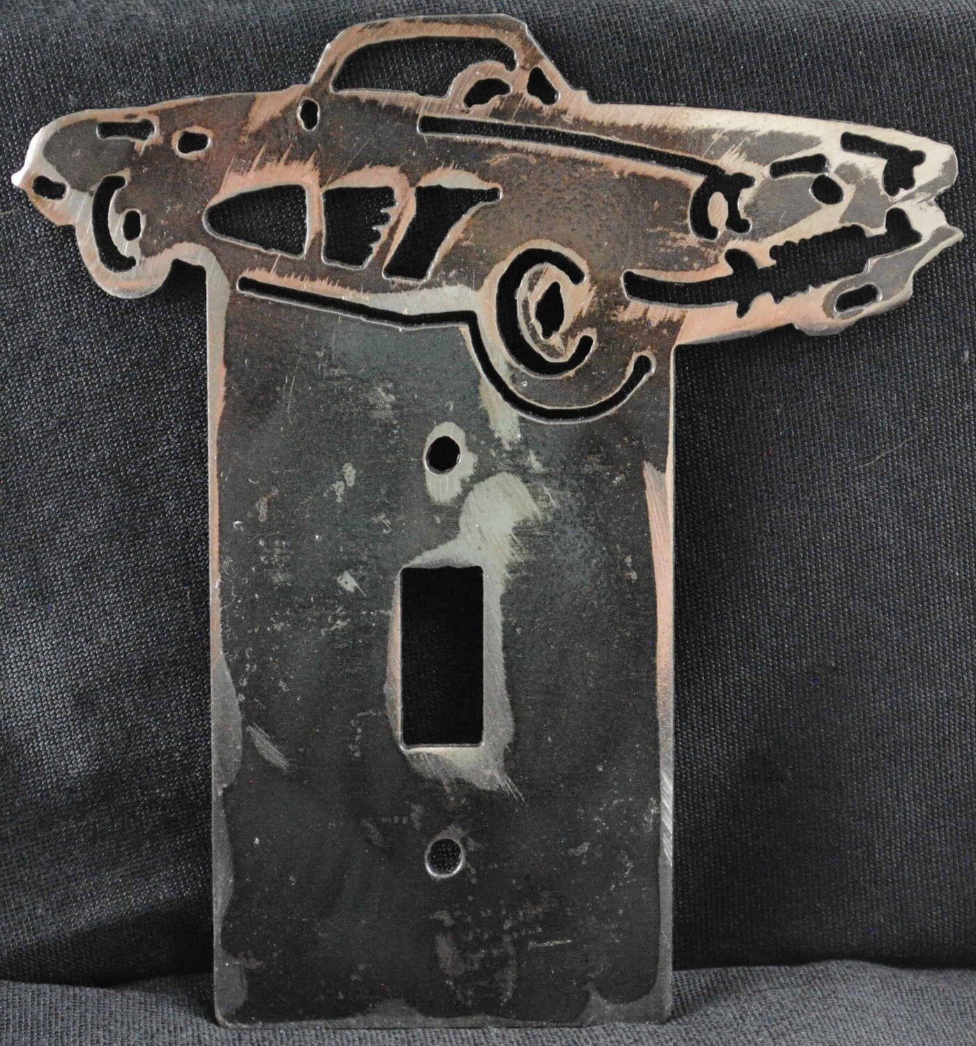 1958 Chevy Corvette Metal Light Switch Cover Plate
