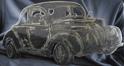 1940 Ford Standard Coupe Metal Wall Art Decor