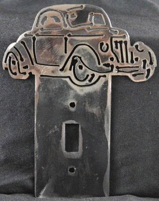 1936 Ford 3 Window Coupe Metal Light Switch Cover Plate