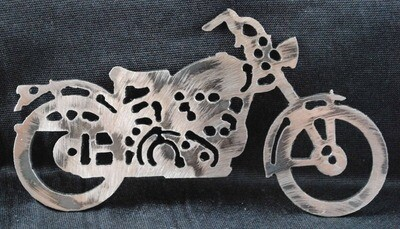 1948 Hummer Style Motorcycle, Magnet or Wall Art