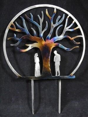 Metal Tree of Life Wedding Cake Topper
