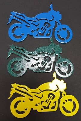 Early Style Sport Bike Motorcycle, Metal Christmas Tree Ornament, Stocking Stuffer