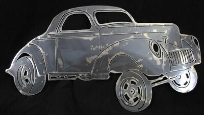 1941 Willys Gasser 21″, Metal Wall Art Decor