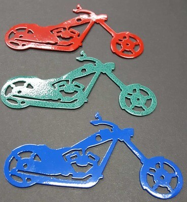 Custom Chopper Style Motorcycle Metal Christmas Tree Ornament