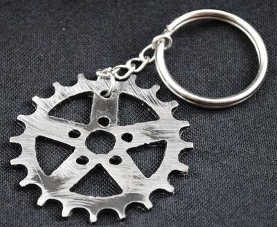 Gear Sprocket, Metal Key Chain