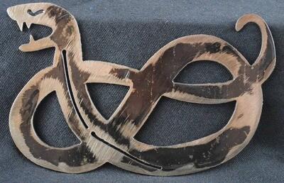 Metal Pretzel Snake, Wall Art Decor