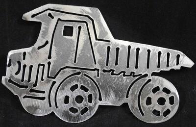 Kids Dump Truck, Metal Wall Art Decor