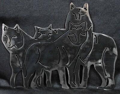 Metal Wolf Pack, Wall Art Decor