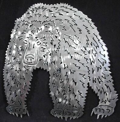 Metal Grizzly Bear, Wall Art Decor