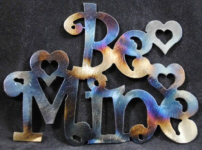Be Mine, Valentines Day Metal Wall Art Decoration