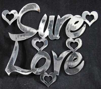 Sure Love, Small Valentine's Day Metal Art Decoration