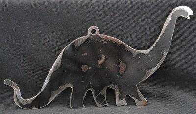 Brontosaurus, Small Metal Dinosaur Wall Art Hanging