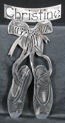 Personalized Metal Ballet Slippers, Wall Decor