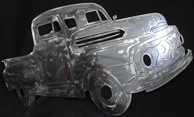 1948 Ford Pick-Up Truck, Metal Wall Art Decor
