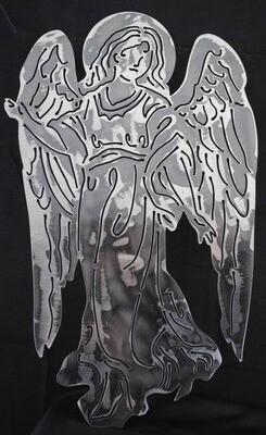 Metal Guardian Angel, Wall Art Decor
