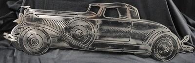 1929 Model J Convertible Duesenberg Roadster Metal Wall Art Decor