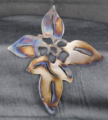 Floral Cross design, Metal Wall Art Decor