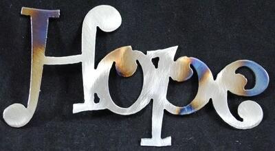 Hope, Metal Wall Art Decor