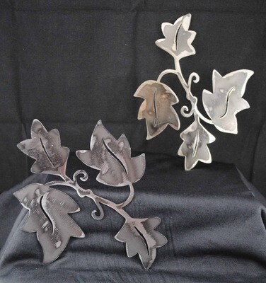 Leaves on a Vine, metal art, wall hanging, nature
