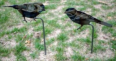 Metal Garden Bird Yard Art