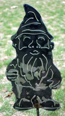 Metal Gnome Yard Art