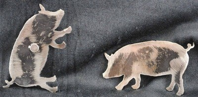 Metal Pig Magnet