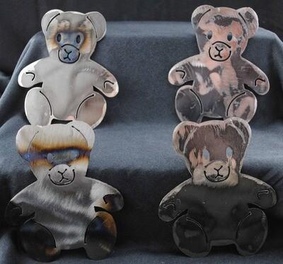 Metal Teddy Bear, Wall Hanging, Magnet