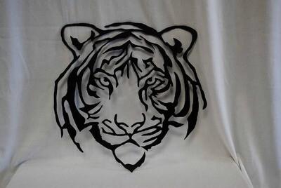 Metal Tiger Face, Metal Wall Art Decor