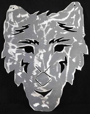 Metal Wolf Face, Wall Art Decor