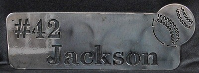 Personalized Metal Baseball Sports Name Plate, Wall Decor