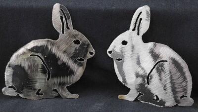 Rabbit, Metal Wall Hanging, Metal Refrigerator Magnet