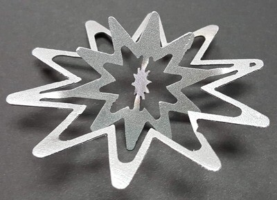 Twisted Snowflake, Christmas Tree Ornaments