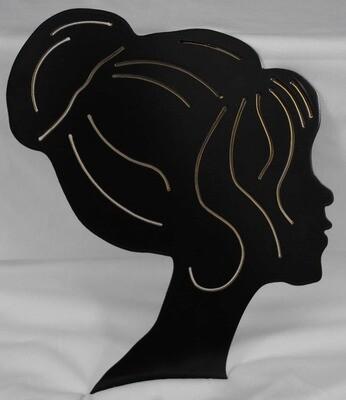 Beauty Head Metal Wall Art Decor