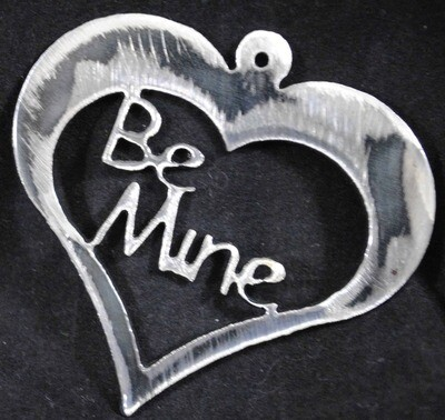 Be Mine Inside a Heart, Small Valentine's Day Metal Art Decoration