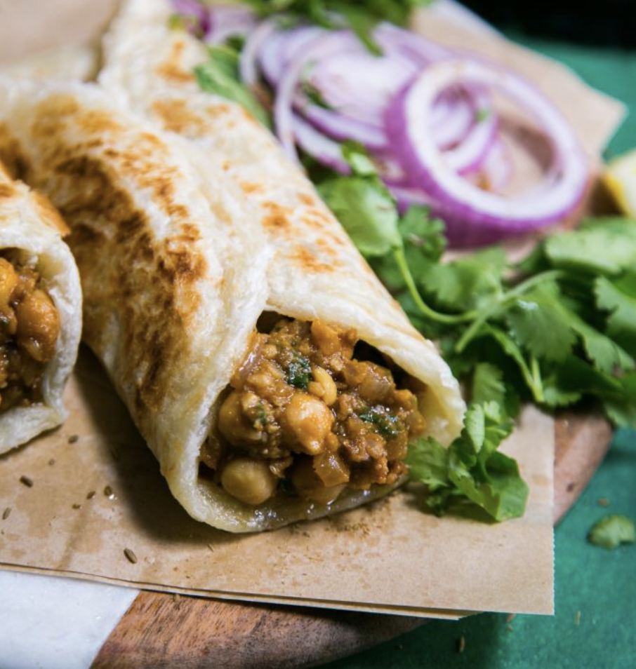Chana Masala Wrap