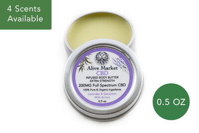 200mg Full Spectrum CBD Body Butter | 0.5oz