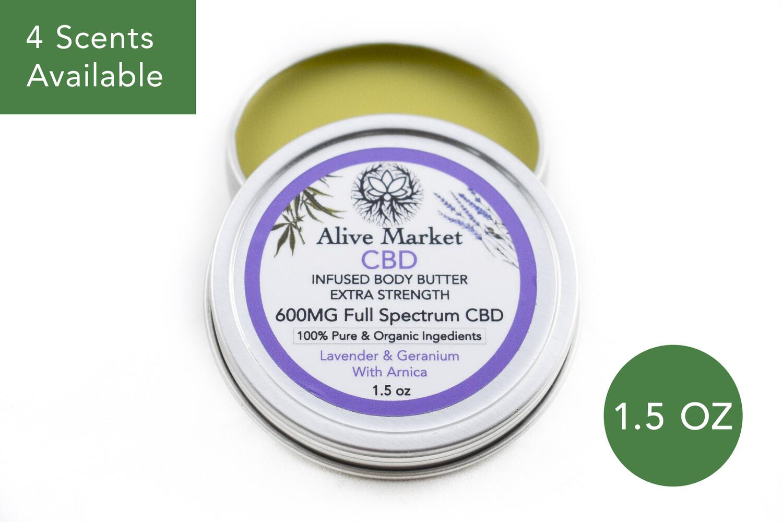 600mg Full Spectrum CBD Body Butter | 1.5oz