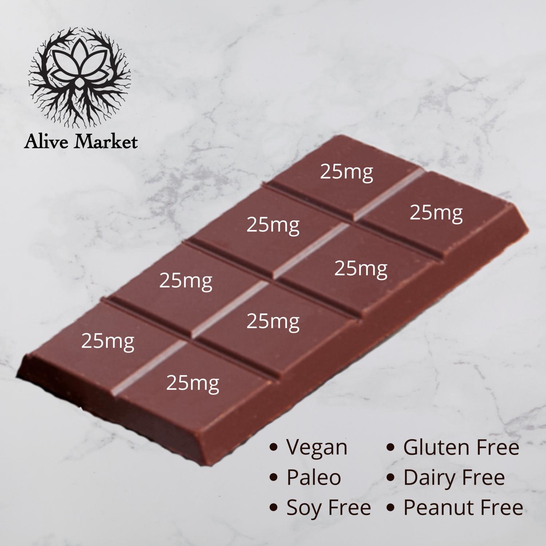 200mg (25mg/Square) Full Spectrum CBD Chocolate Bar