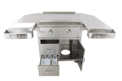 """BLAZE 30"""" Gas Griddle - DELUXE w Shelving"""