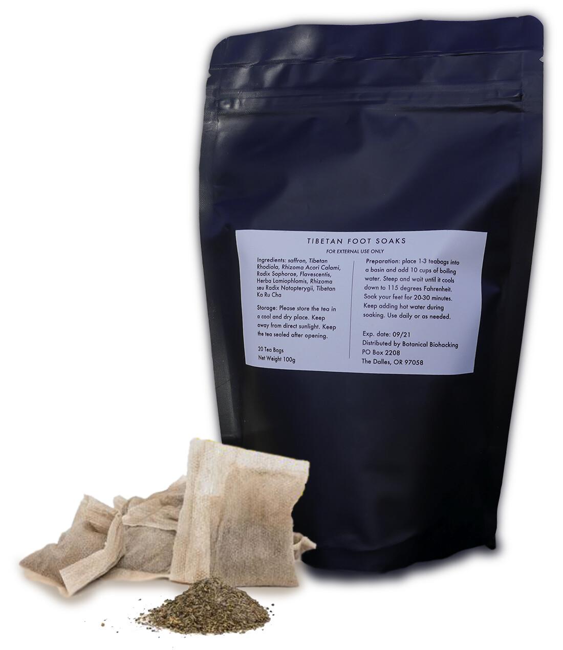Tibetan Herbal Foot Soak - 20 Tea Bags