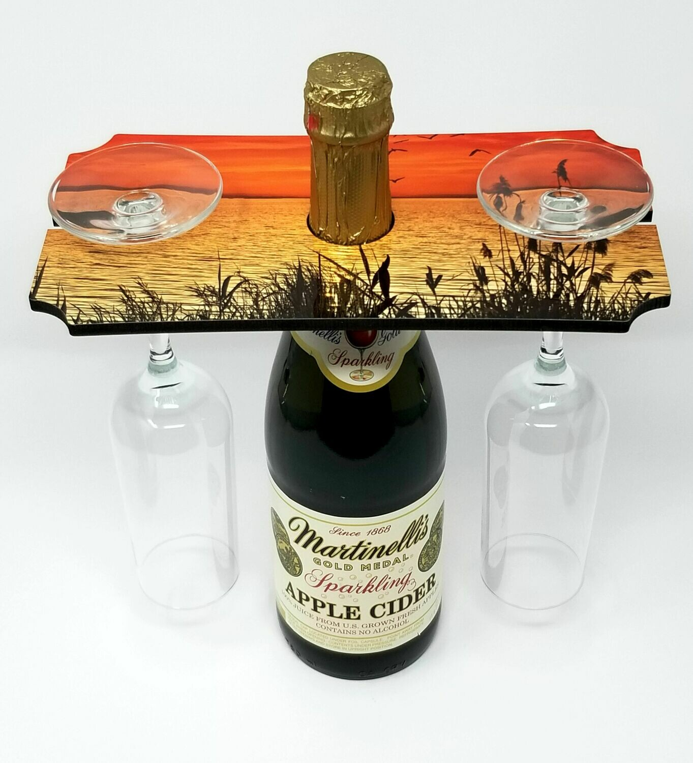 "Wine Glass Holder Tray - 5.25""x 9.5"""