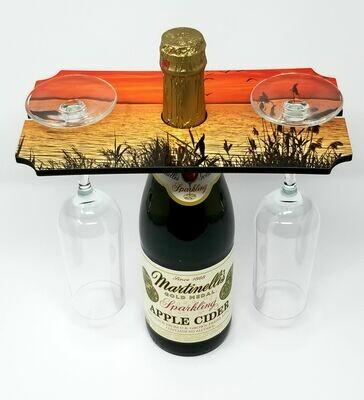"Wine Glass Holder Tray - 5.25""x 9.5"""