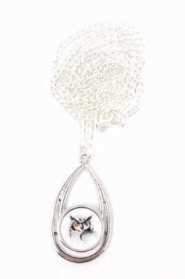 Owl Snap Pendant and Chain