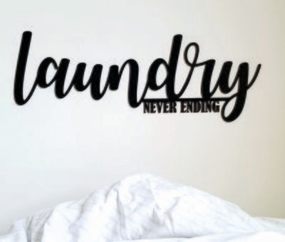 Laundry Wood Sign Decor