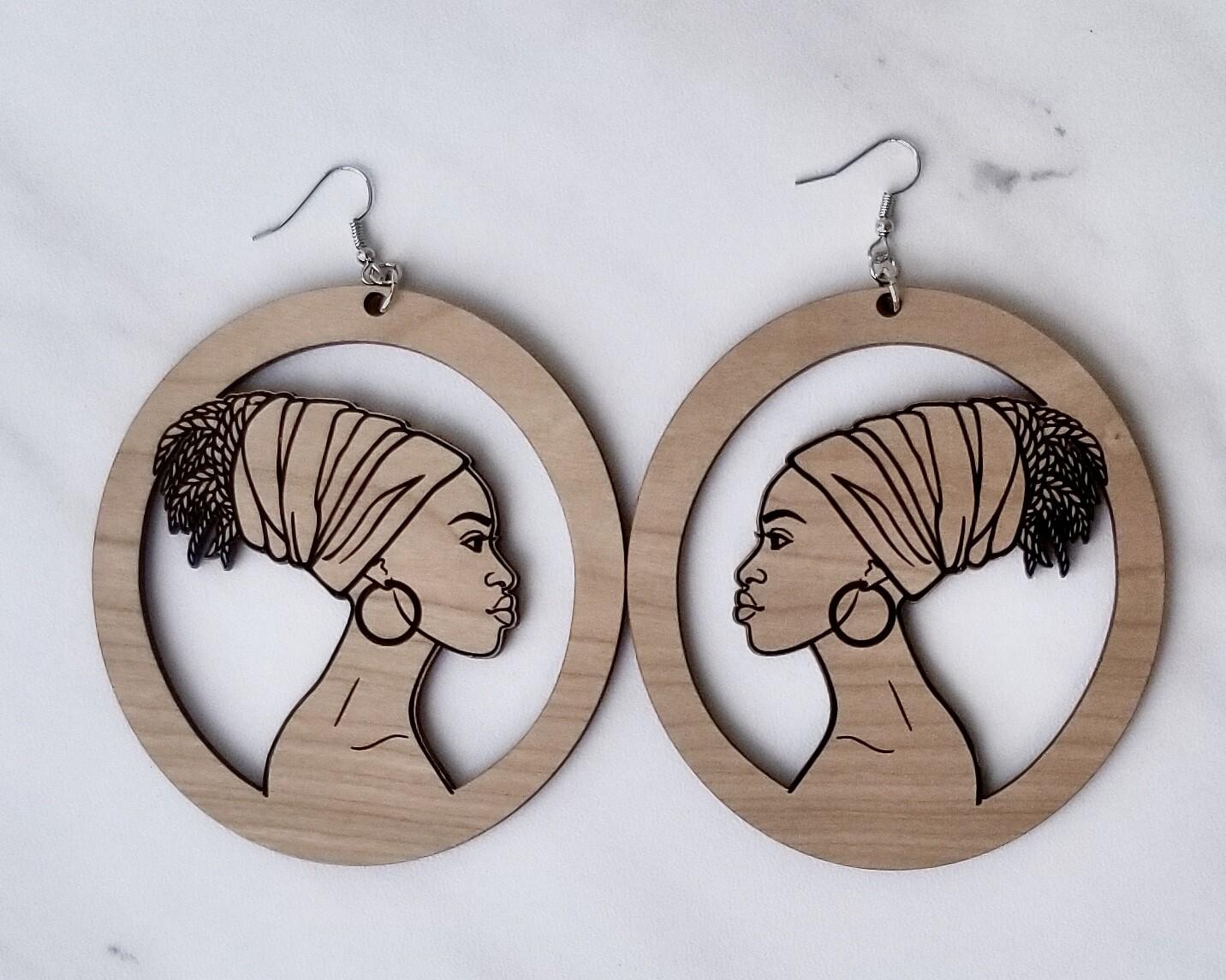 Ethnic Wood Earrings