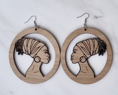 Ethnic Wood Earrings